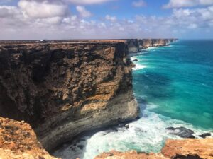 the great australian bite south australia. The beautiful coastal views on the Nullabor plain